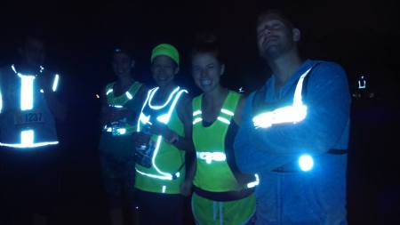 The cast of Tron prepares to run